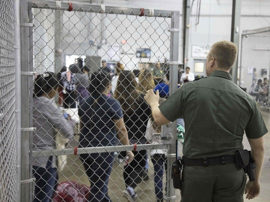 Detention center in McAllen, Texas.