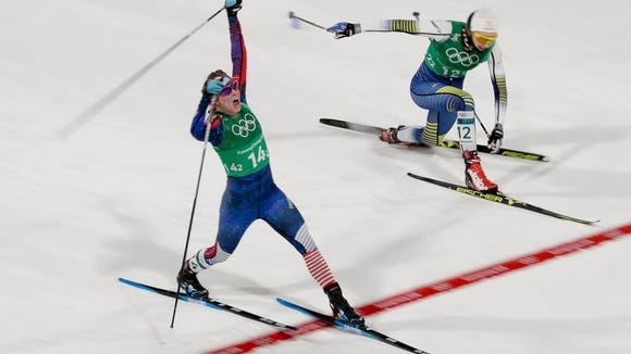 AP APTOPIX PYEONGCHANG OLYMPICS CROSS COUNTRY WOMEN S OLY XXC KOR