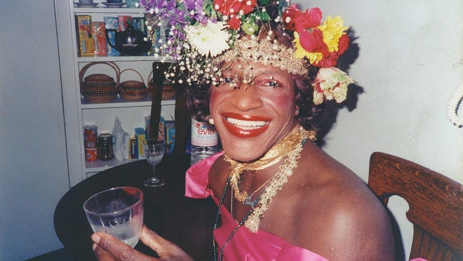 "A still of Marsha P. Johnson from ""The Death and Life of Marsha P. Johnson."""