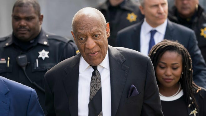 Bill Cosby leaves Montgomery County Courthouse on March 6, 2018, in Norristown, Pa., following a pre-trial hearing.