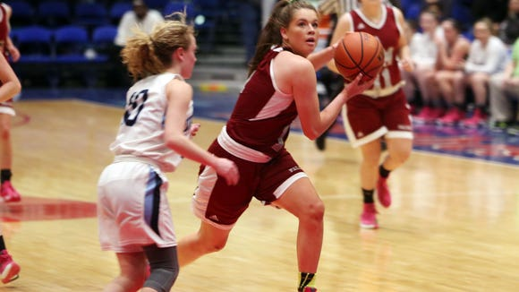 Ursuline defeated Alberts Magnus 48-45 in the girls Class A  semifinal at the Westchester County Center in White Plains Feb. 25, 2016.