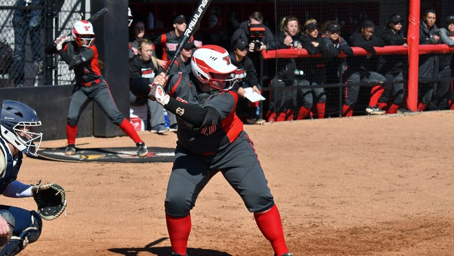 Youngstown State's Elizabeth Birkbeck, an Orrville graduate, awaits a pitch in a game during the 2019 season. The senior took a medical redshirt for the 2020 campaign and will return for her final season in 2021.