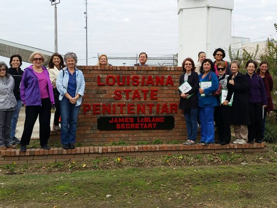 Hospice of Acadiana volunteers and staff visited Louisiana State Penitentiary Dec. 16 to support the hospice program there.