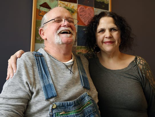 Kevin and Kitsap Public Health District caseworker Lisa Linden work together to keep his HIV in check. The health district offers free case management to those living with HIV in Kitsap, Jefferson, Clallam and Mason counties.