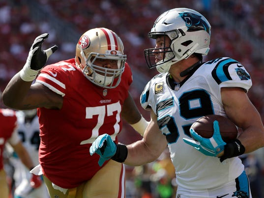 Luke Kuechly, Trent Brown