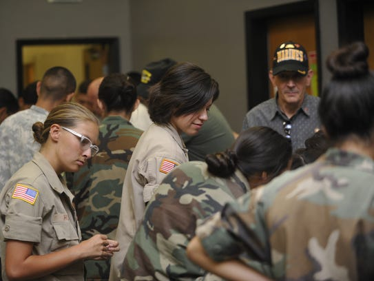 Cadets at La Sierra Military Academy spoke with veterans