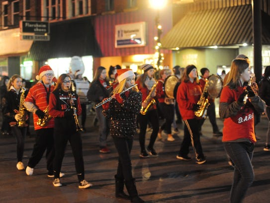 The Bucyrus Middle School Marching Band entertained