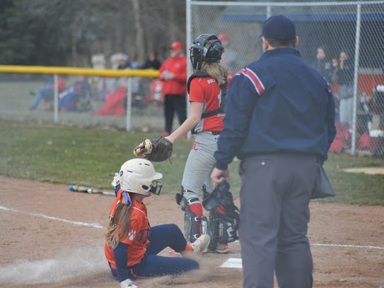 Buckeye Central at Galion softball on March 26, 2018.