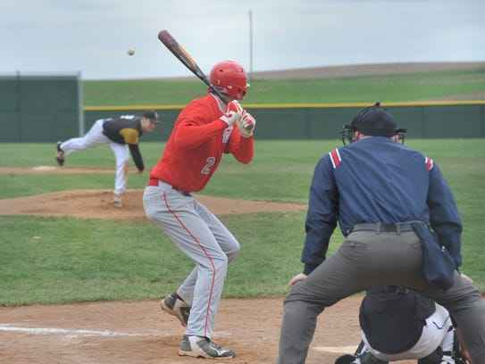 Buckeye Central's Josh Dentinger awaits a pitch Saturday against South Central.