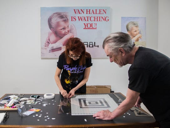 Margo Nahas and Jay Vigon, a husband-wife art duo known
