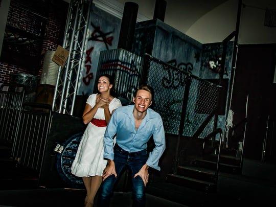 Alexa Garcia and Jadon Webster pose backstage at St.