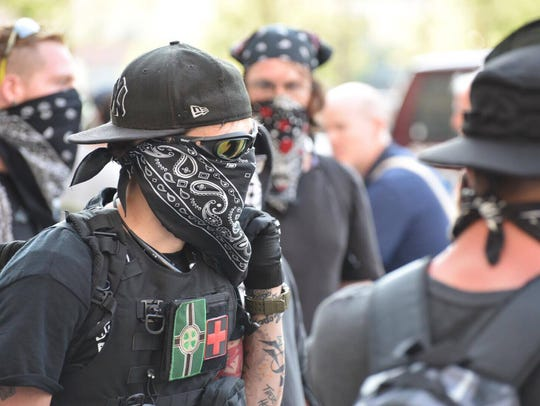 This group of what police called anarchists were followed