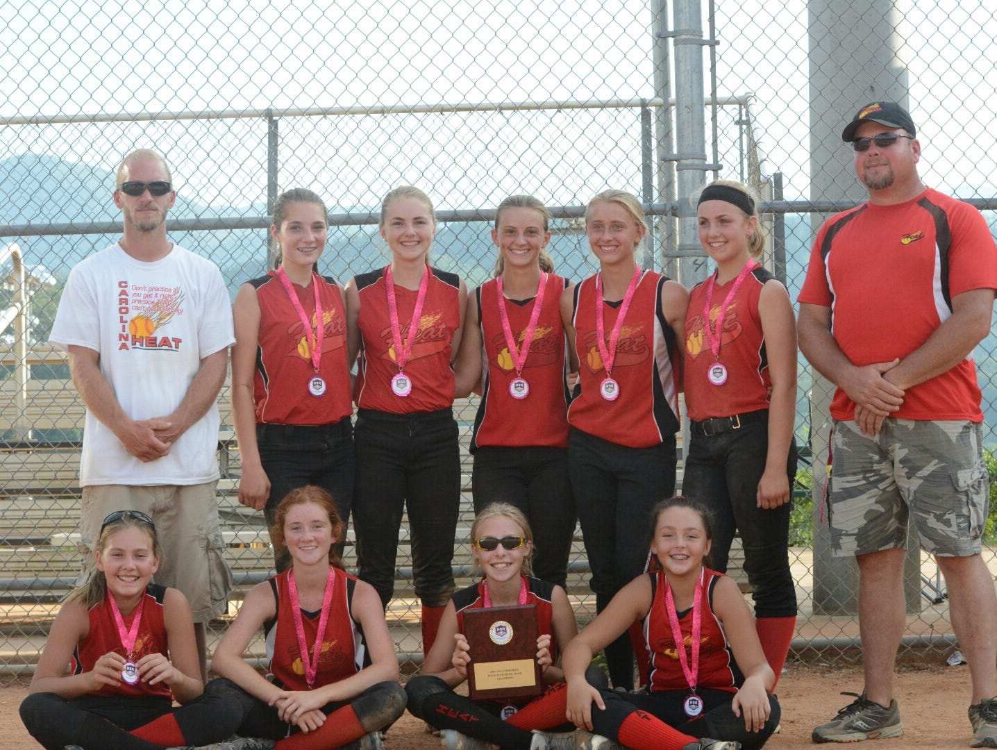 The Carolina Heat 12 and under softball team won the ASA Back to School Bash tournament over the weekend in Cherokee.