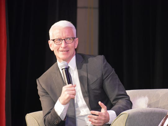 Anderson Cooper spoke about his experiences as a war