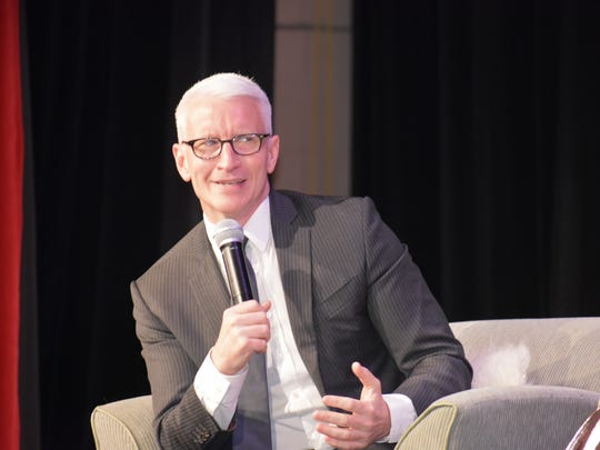 """Anderson Cooper spoke about his experiences as a war correspondent and journalism during Kaplen JCC on the Palisades' """"Patron of the Arts"""" event on Sunday night."""