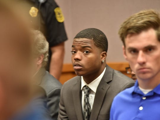 Ex- MSU football player Donnie Corley Jr. attends his