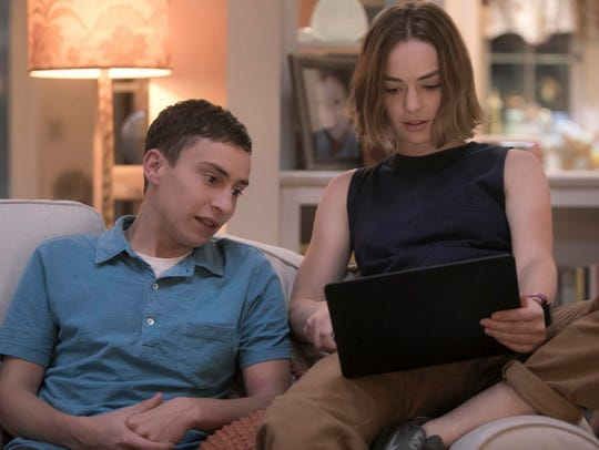 Keir Gilchrist, left, and Brigette Lundy-Paine play