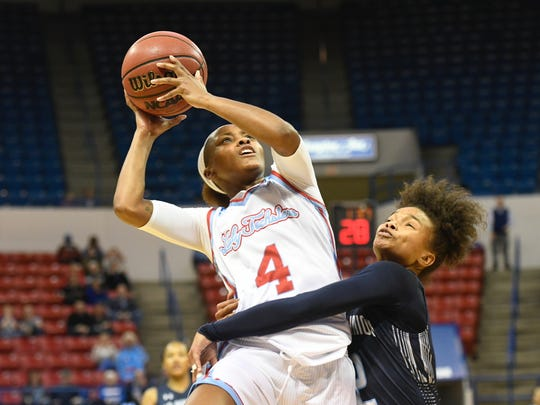Kierra Anthony and the Techsters lost Saturday,