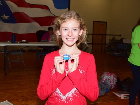 Emma Rainey, 10, raised $455, placing her among the