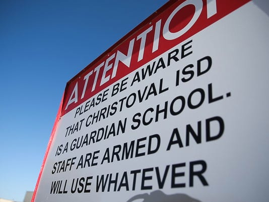 Armed staff at Christoval ISD