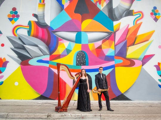 Spend Easter afternoon at B Sharp's Jazz Cafe with the harp-happy Kontra Duo.