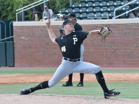 Purdue's Trent Johnson, a former Crawfordsville standout, struck out two in a scoreless inning of relief Saturday against North Carolina A&T.