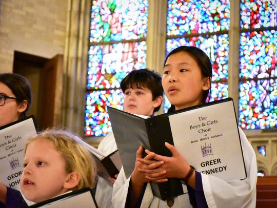 Students sing at the 2018 St. Mark's Cathedral Youth