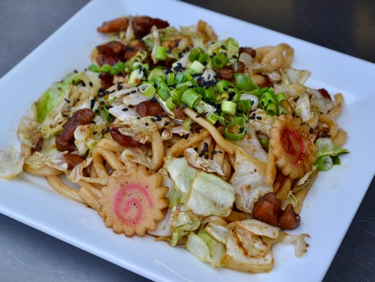 Fried udon noodles, once on the menu of Kenji's food
