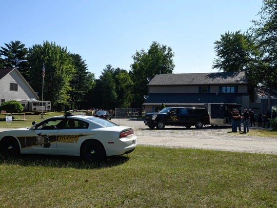 Law enforcement is at the scene of a death following