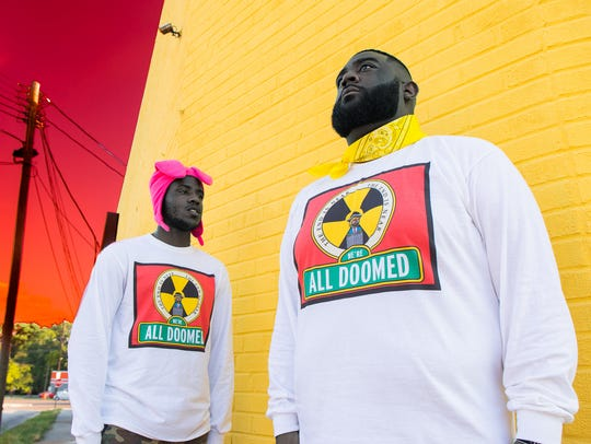 A Weirdo From Memphis and J Mac model the latest clothes
