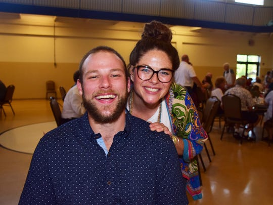 Dona Bean's son, Adam Bean, and daughter, Cortny Bean, flash their thousand-watt smiles at the Dona Bean Fundraiser for Children on July 18.