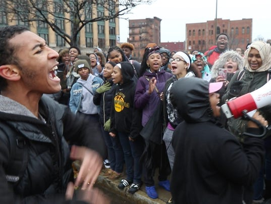 Rochester Prep students protest