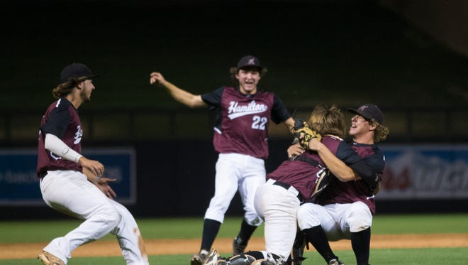 Chandler Hamilton holds on to the top spot in the Division I high school baseball rankings this week.
