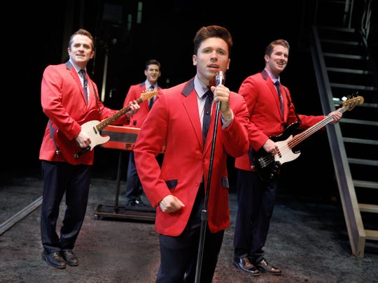 """Starring in the national tour of """"Jersey Boys"""" are,"""