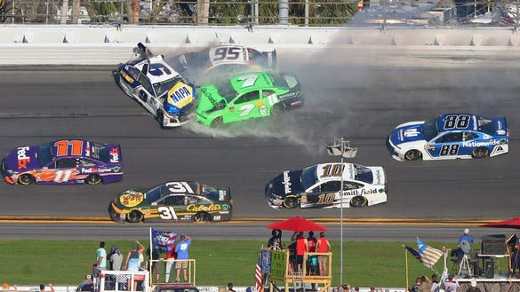 10 crazy and chaotic wreck photos from the Daytona 500