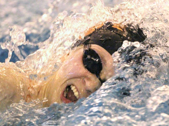 Brighton's Taylor Seaman won two events in the 2016 state swimming meet.