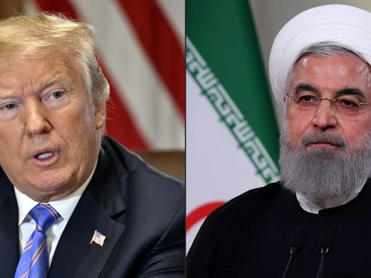 President Donald Trump and Iran President Hassan Rouhani.
