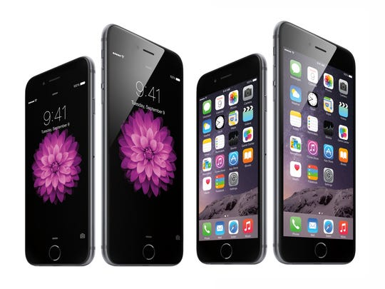Apple's iPhone 6 line, including the larger iPhone 6 Plus.