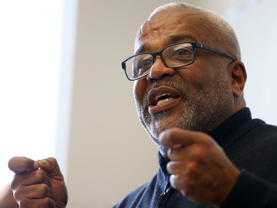 Lyle Foster leads a discussion on race, bias, inclusion and social class at Missouri State University on Nov. 11, 2015.