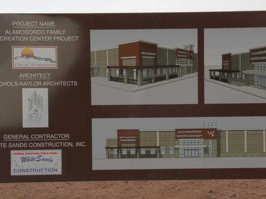 The Family Fun Center sketch depicts what the facility will look like after completion.