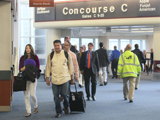 A beer garden at Milwaukee Mitchell International Airport would be in Concourse C, the county says.