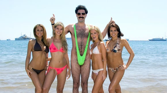A dozen years later, the image of Borat's neon-green mankini is still burned into our retinas.