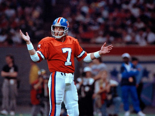 A file photo of John Elway from the 1990 season.