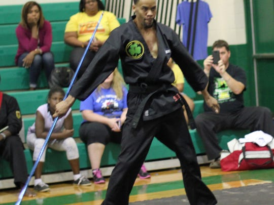 Mr. Terrell Bennett during his Bo Staff Competition.