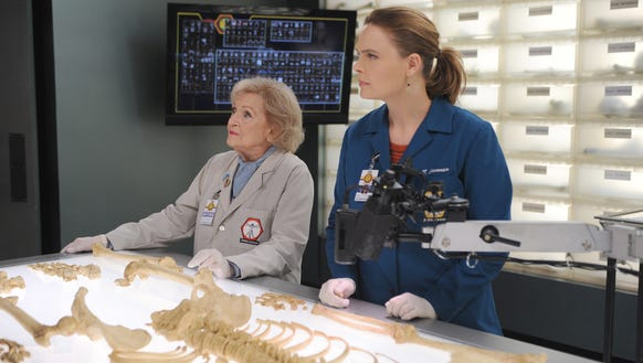 Betty White (with Emily Deschanel) is a brilliant doctor,