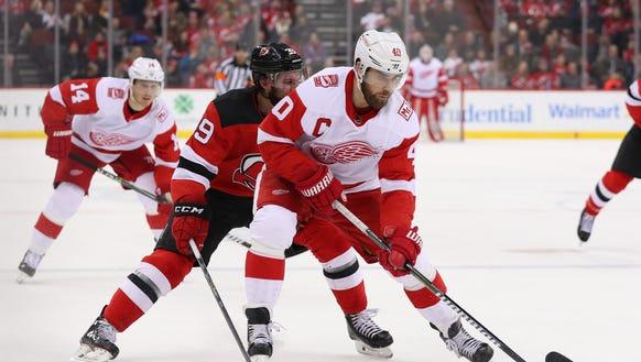 Detroit Red Wings center Henrik Zetterberg (40) skates