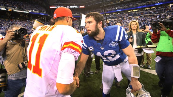 Andrew Luck and the Colts pulled off a stunning comeback last year in the playoffs vs. Kansas City. Who will Indy play this year?
