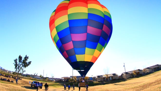 Dean Baker of Lake Havasu City set out to fly his hot-air balloon as far as possible.