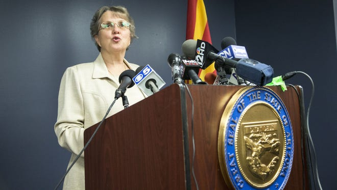 State records released to  The Arizona Republic show state schools boss Diane Douglas and her chief of staff, Michael Bradley, learned on the afternoon of May 8, 2015, that the Board of Education staffers' planned to move into the executive tower.