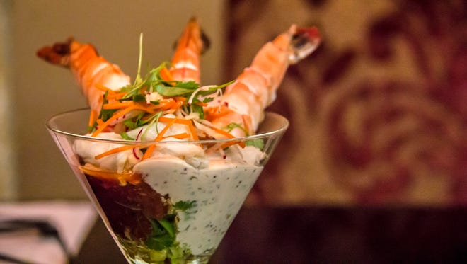 The roasted shrimp and crab cocktail is among the new fall dishes at Bistro 1528 at Encanterra Country Club.